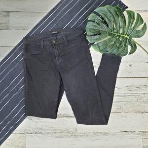 J Brand  Super Skinny Jeans Coated Black Size 27